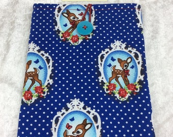 Handmade Tablet Case Cover Pouch iPad/Kindle SMALL Bambi Style Deers
