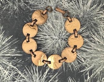 Vintage US Lincoln Pennies Handmade Bracelet