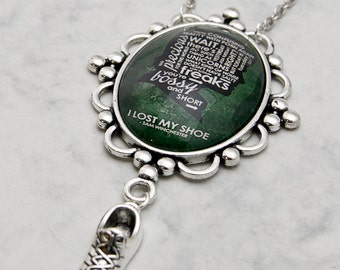 Sam Winchester Necklace Pendant Supernatural Fandom Fangirl quote SPN TV-Series Glascabochon handmade fashion jewelry lost my shoe Dean