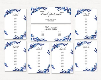 wedding guest seating chart template