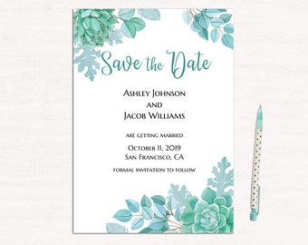 simple wedding announcement template black and white save the etsy