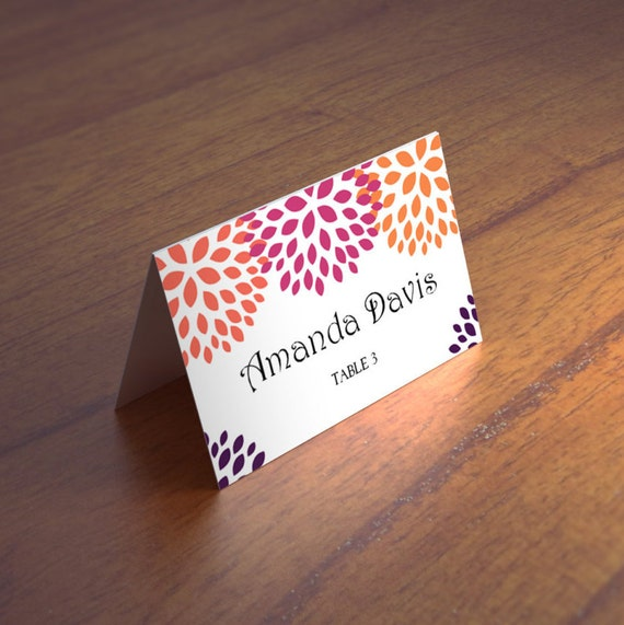 fall wedding place card templates autumn wedding seating cards etsy