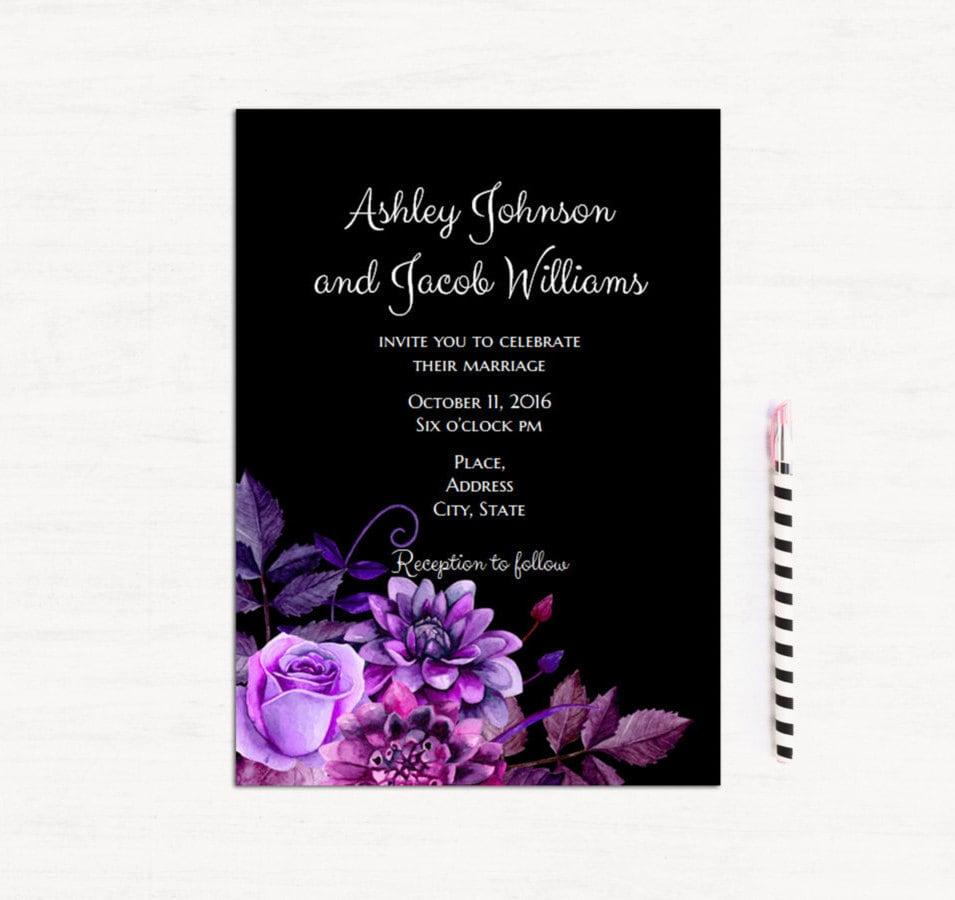 50: Purple Wedding Invitation Card At Websimilar.org
