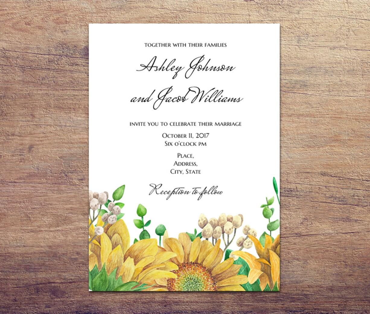 Country Wedding Invitation Templates: Rustic Wedding Invitation Template Country Wedding