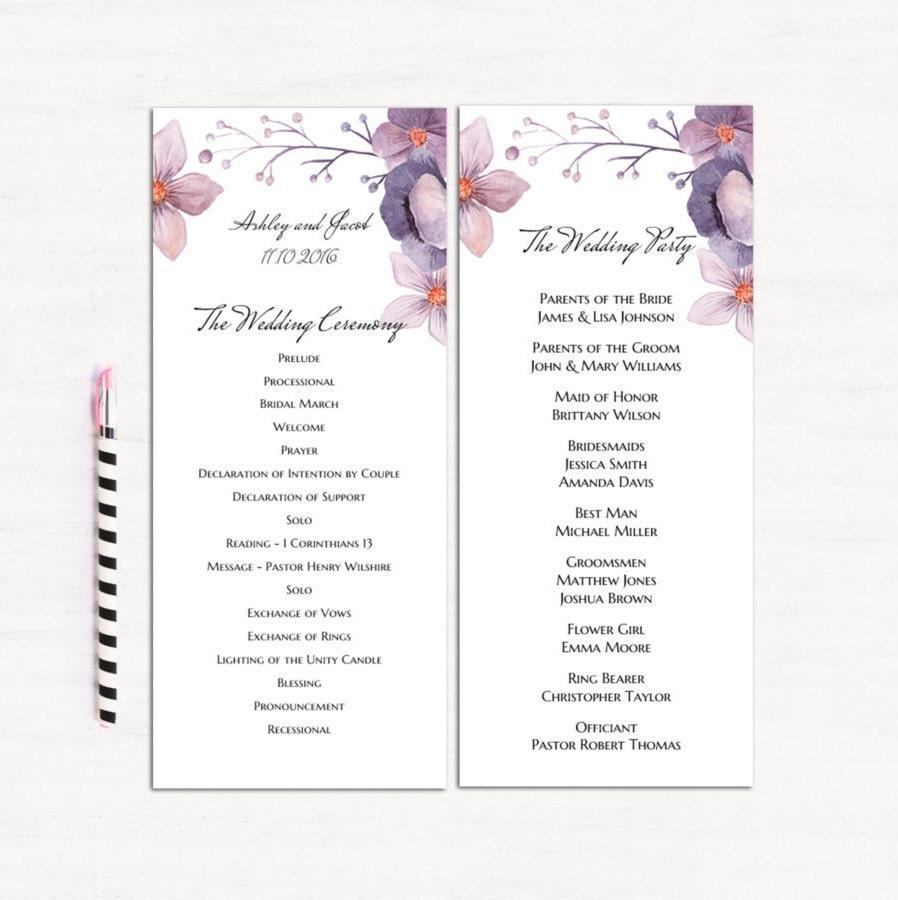 Beste Gefaltetes Hochzeitsprogramm Vorlage Bilder - Beispiel ...