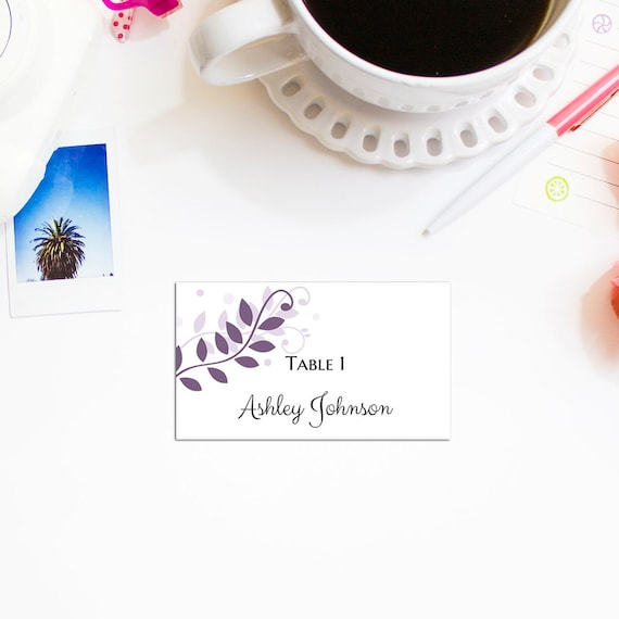 wedding place cards template wedding table name card printable etsy