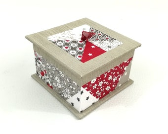 Jewelry box - the - box candy box - red and taupe