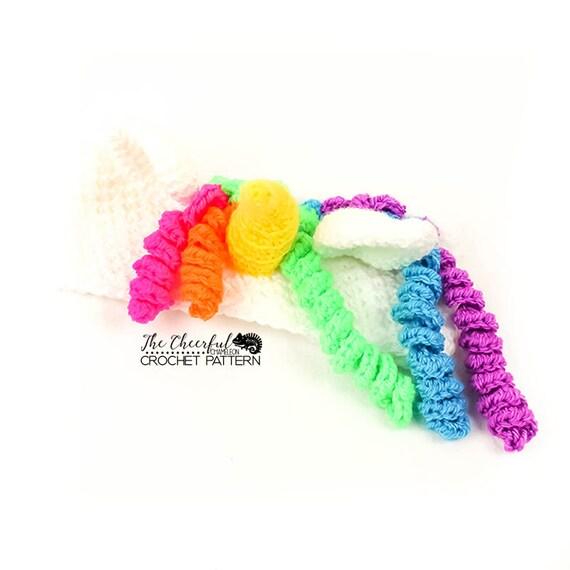 Unicorn Crochet Pattern Ear Warmer Pattern Unicorn Crochet