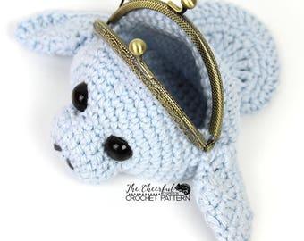 Manatee Crochet Pattern - Change Purse Pattern - Manatee Coin Purse Pattern - Coin Purse Pattern - Crochet Change Purse Pattern