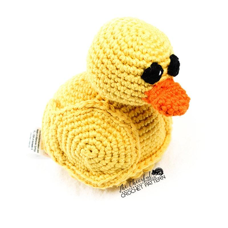 Duck Crochet Pattern Ducky Pattern Crochet Duck Toy Etsy