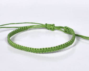 Mens Bracelet for Men string bracelet for Women bracelet Cord bracelet green bracelet adjustable bracelet macrame bracelet friendship