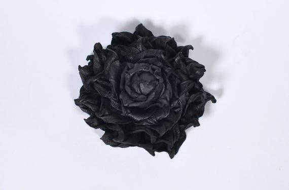 Black Rose Brooch