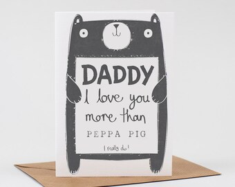 Daddy Birthday Card Personalised Free UK Delivery Personalized