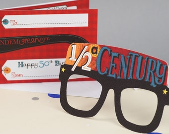 50th Birthday Card Glasses For Him Funny Milestone Fun Free UK Delivery