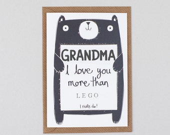 Grandma Birthday Card For Gran Nana Granny Personalised Free UK Delivery