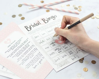 Bridal Bingo Hen Party Game Cards, Free UK Delivery.