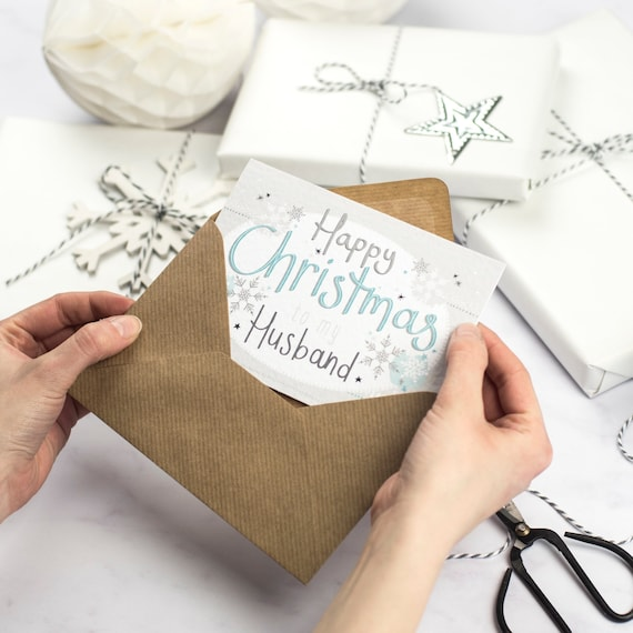 Husband Christmas Cards Uk.Happy Christmas Card To My Husband Christmas Card For Husband Free Uk Delivery