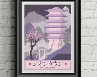 Pokemon Travel Poster Lavender Town