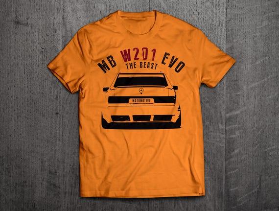 mercedes benz shirts benz w201 t shirts classic benz cars t. Black Bedroom Furniture Sets. Home Design Ideas