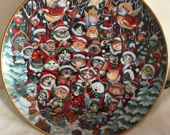Collectible Cat Plate From Franklin Mint - Bill Bell