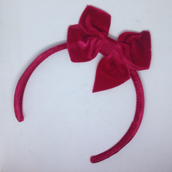 Haarband Haarreif breit gepolstert Polster Stirnband Haarschmuck 4 cm weiß rot