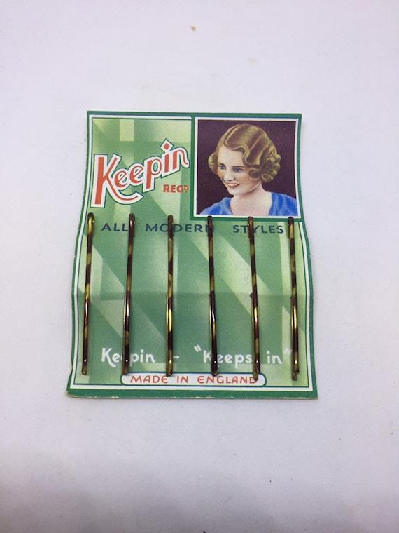 Vintage 1940 S écaille de tortue Kirby Grips Dans Emballage D/'Origine 6 To une carte