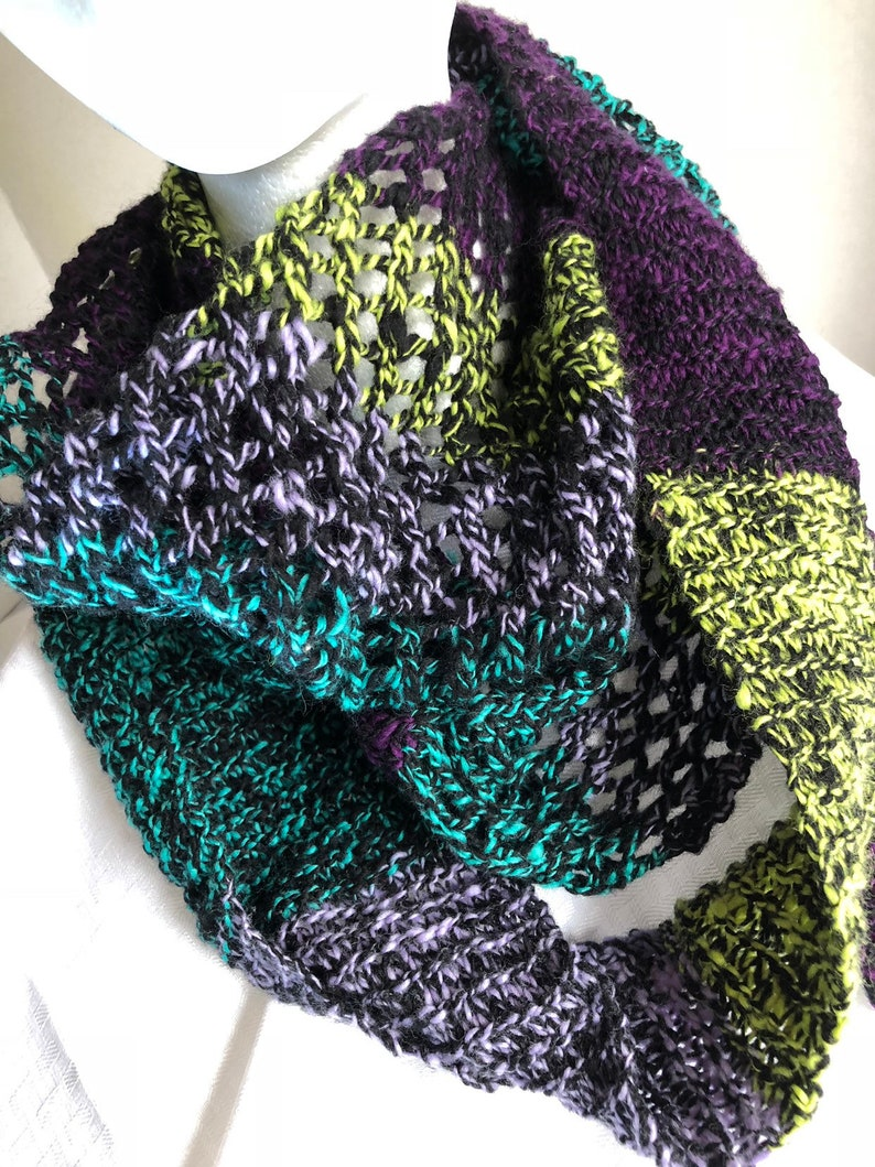 Forager S Scarf Hand Spun And Hand Knit Merino Wool Etsy