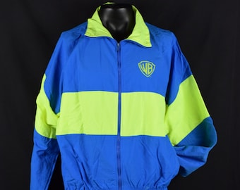 Deadstock Vintage Warner Bros Zip Up Jacket / Movie Studio Promo Classic Swag / 90s High Five Sportswear / Made in USA / Tag size X-Large