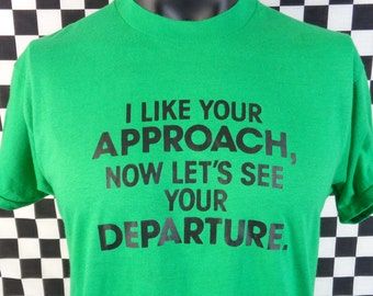 T-shirt   Funny Shirt   Vintage 80s Tshirt   Screen Stars   XL T-shirt    Thin Vintage Shirt   Green   2-sided   Vtg f9149bba1