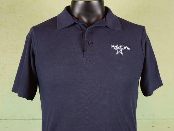 a50fa2744 Vintage 80s COWBOYS Polo Golf tshirt   Dallas Cowboys   NFL