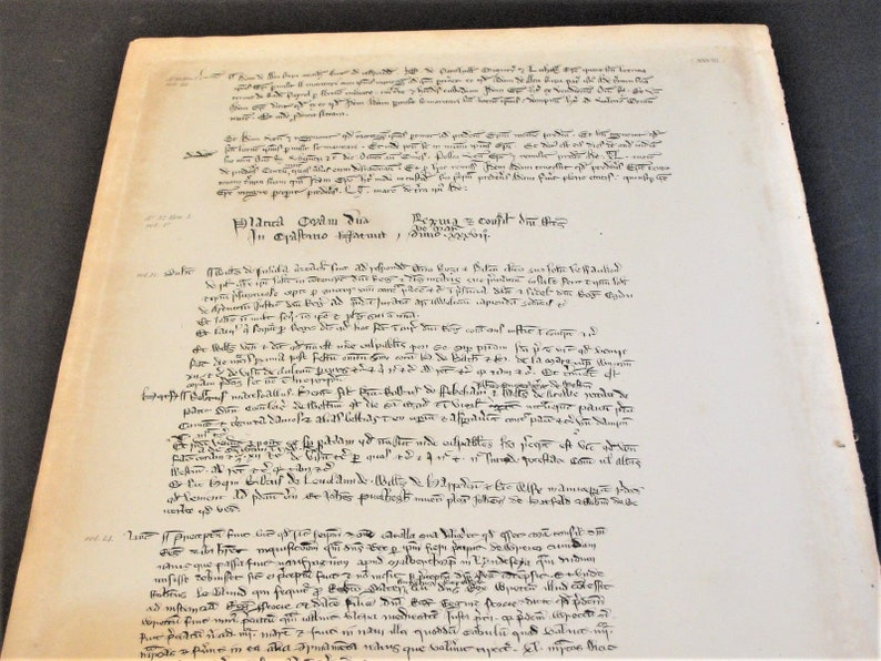 A.D.1200\u2019s early to middle England Historical Document- Medieval Latin Henry III King of England-1800\u2019s early- Reproduction PaperPrint.