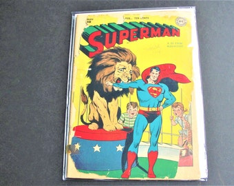 Superman (1st Series) #50 (Poor 0.5) – (Missing back cover), Golden Age DC 1948! Three Stories! Comic Book. RARE!