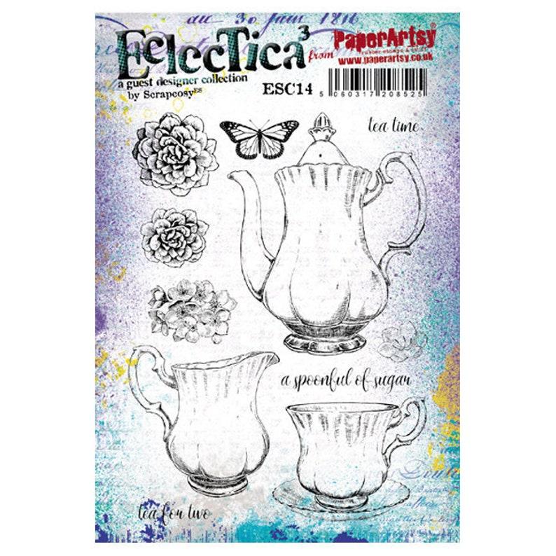 Eclectica scrapcosy  ESC14  Tea set: Vintage Teapot cup image 0