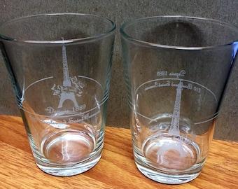 Rare Eiffel Tower Drinking Glasses