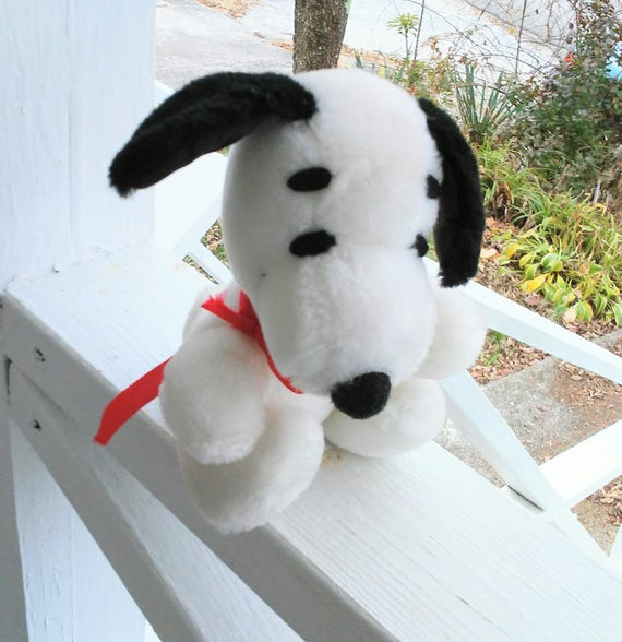 Baby Snoopy Plush Vintage Snoopy Stuffed Animal 1968 Cute Etsy