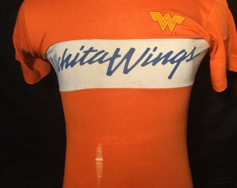 Vintage 1980's Witchita Wings MISL  Soccer 50/50 T-Shirt Thin and Soft