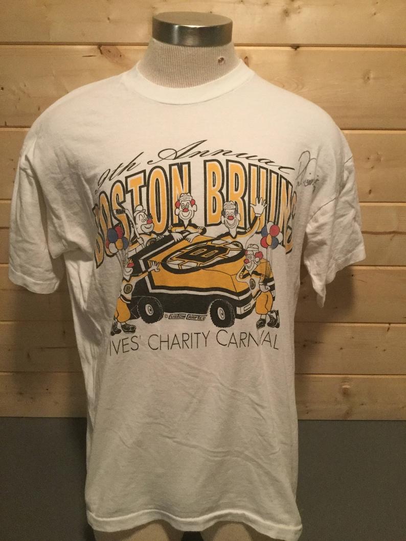 a4929a5621e Vintage 1990s Boston Bruins Clown Zamboni T-Shirt Made in USA