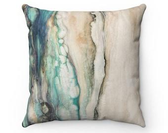 """Square Pillow """"Sea Scape"""""""