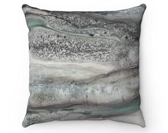 "Square Pillow ""Grey Stone"""