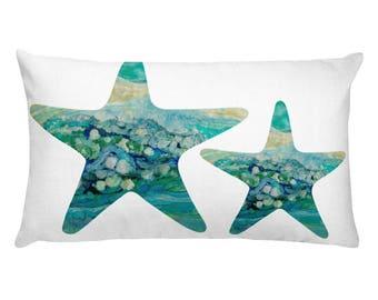 """Rectangular Pillow """"Beach Star Fish"""""""
