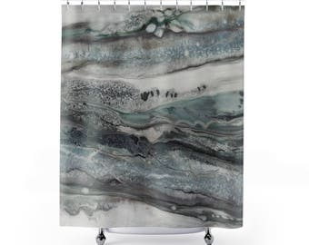 """Shower Curtains """"Gray Stone"""""""