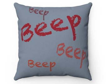 Beep Chick Spun Polyester Square Pillow Case