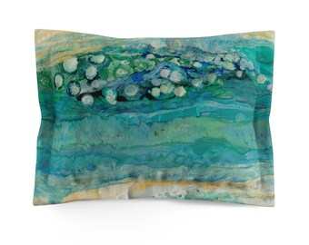 "Pillow Sham ""Beach Bubbles"""