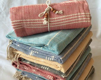 Heavy strong thick premium quality hand-loomed Turkish cotton towel