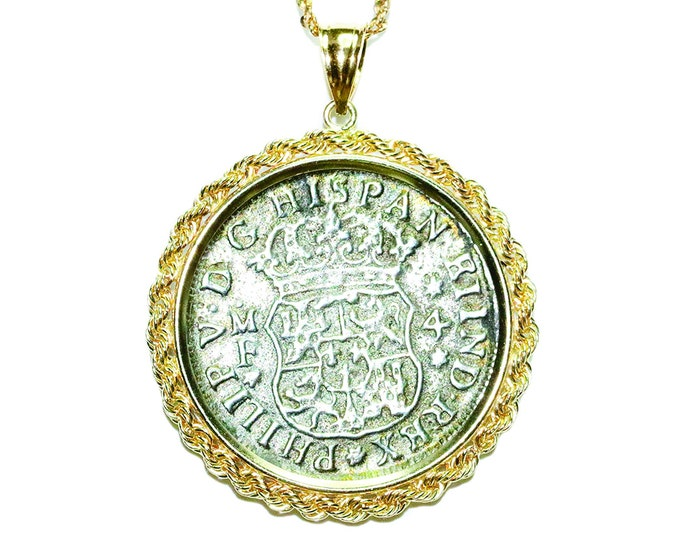 Shipwreck Coin Jewelry 14k Gold Jewelry Pendant Sunken Shipwreck Hollandia 1743 VIDEO