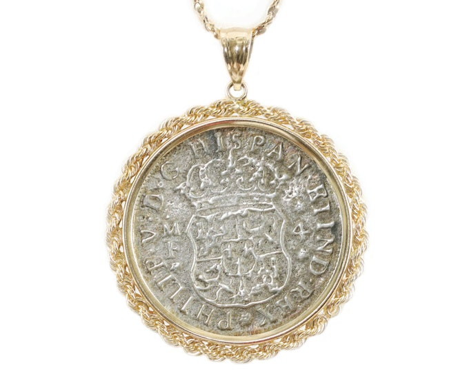 Shipwreck Coin Jewelry 14k Gold Jewelry Pendant Sunken Shipwreck Hollandia 1743 VIDEO