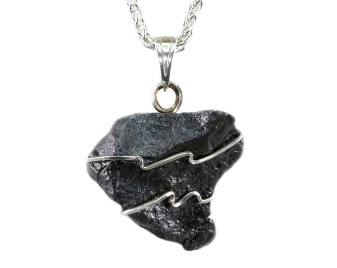 Meteorite Jewelry Canyon Diablo Pendant Necklace
