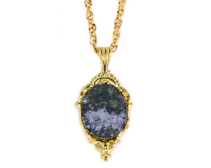 Allende Meteorite Famous Space Rock Pendant Jewelry 14k Gold Petite