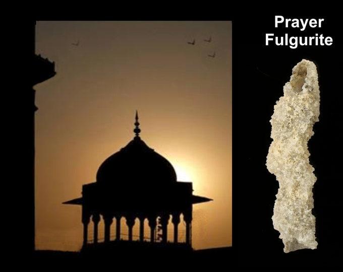 Fulgurite Lightning Sand Prayer Fulgurite for Praying