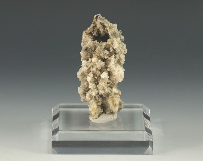 Fulgurite Lightning Sand Naturally Sculptured Snowflakes on Base